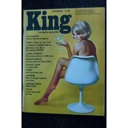 KING 10 October 1966 Sophie RIEU Roy BROOKS PETER EVANS JAMES LEASOR David HICKS Pin-Up SEXY VINTAGE